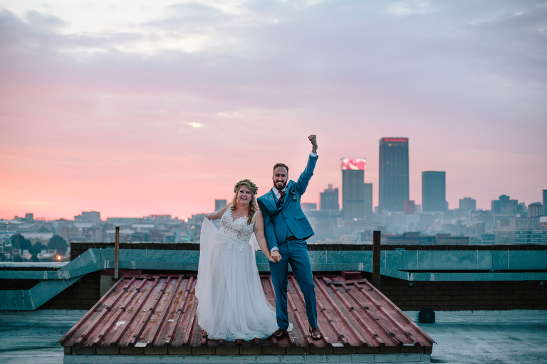 Judith Belle Doubell Adventure Stories The Emkhathini Johannesburg Skyline Rooftop Wedding Venue South Africa Top Wedding Photographer
